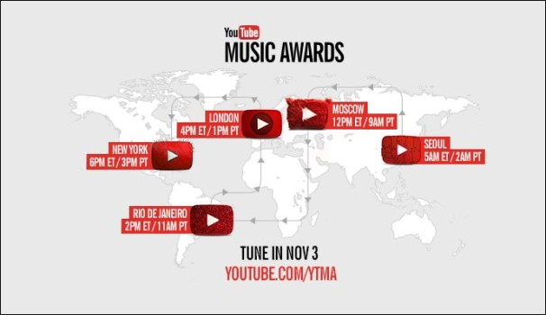 youtube music awards and the winners are know 1 radio. Black Bedroom Furniture Sets. Home Design Ideas